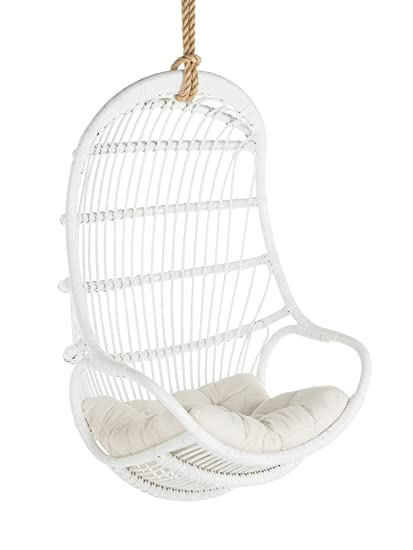 Attrayant KOUBOO 1110015 Rattan Hanging Chair, Large, White