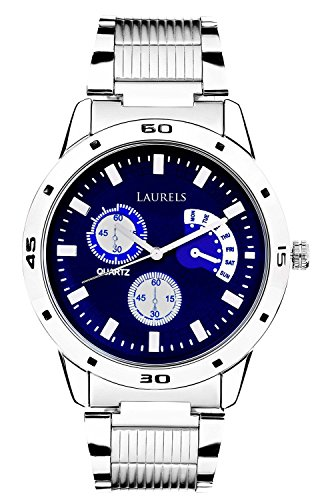 Laurels Matrix Analogue Blue Dail Men's Watch – Lo-Mtx-0307