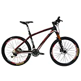 BEIOU® Carbon Fiber Mountain Bike Hardtail MTB 10.65 kg SHIMANO M610 DEORE 30 Speed Ultralight Frame RT 26-Inch Professional Internal Cable Routing Toray T800 Carbon Hubs Matte CB025A19X