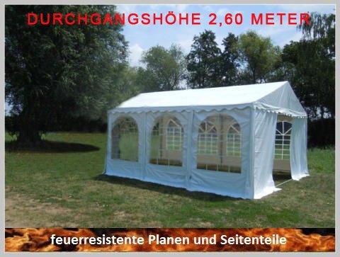 Pavillon Pavillion Festzelt Partyzelt Giant Pro PVC FR XXL 5x6m 6x5m 5x6 6x5 mit Fenster