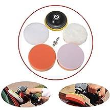 MATCC 6pcs 3.94 Inch Sponge and Woolen Polishing Buffing Pad Kit For Car Polisher
