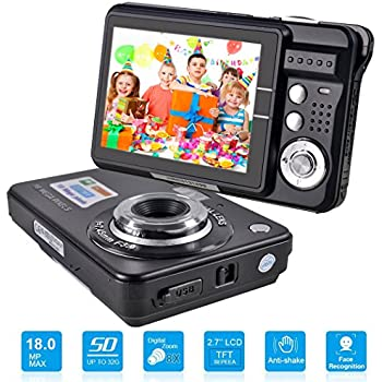 HD Mini Digital Camera with 2.7 Inch TFT LCD Display, Digital Video Cameras Students Cameras (Black)- Sports, Travel, Indoor, Outdoor, Camping, ...