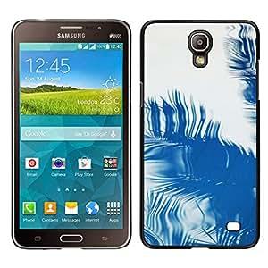 Samsung Galaxy Mega 2 / SM-G750F / G7508 Único Patrón Plástico Duro Fundas Cover Cubre Hard Case Cover - Palm Reflection Tropical Summer Blue