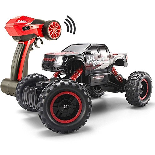 1/14 RC Crawler Remote Control 4x4 Off Road Cars for Adults FSTgo Radio Controlled Vehicles Kids Toy Monster Buggy Electric Trucks with LED - Toy Headlight