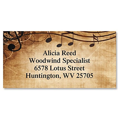 (Sheet Music Personalized Border Return Address labels- Set of 144 1-1/8