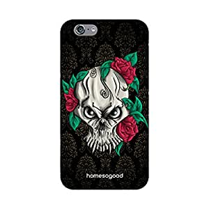HomeSoGood Angry Skull Art Multicolor 3D Mobile Case For iPhone 6 (Back Cover)