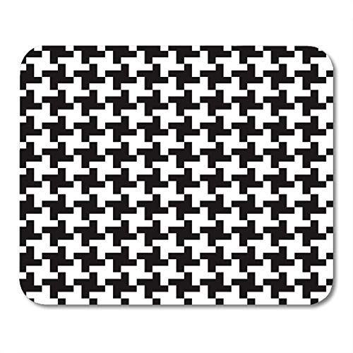 Emvency Mouse Pads Check Houndstooth Glen Plaid 50S 60S 70S Mouse pad 9.5