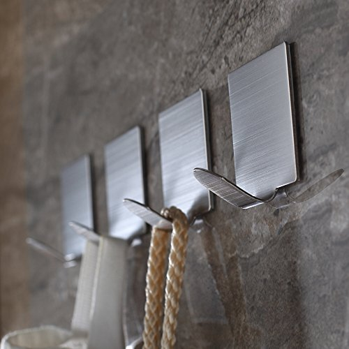 Adhesive Bathroom Brushed Stainless 4 pack product image