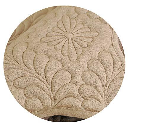 Cover for Sofa Towel Sofas Covers Set Cushion Cover Velvet Cushion Covers Gray/Beige/Coffee Fabric for Sofa Stripes L-Shaped Use,1Pcs Khaki,110X210Cm 1Pc ()