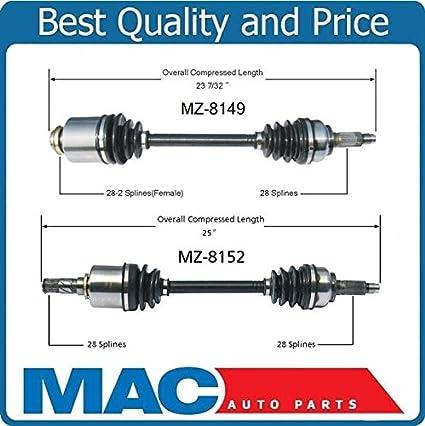 Manuel Auto Parts >> Amazon Com Mazda 3 5 07 14 Front Cv Axle Shaft Mz8152
