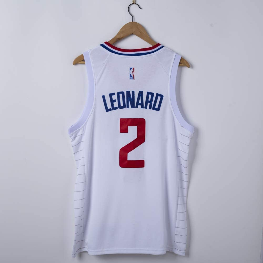 \ NCNC 2# Clippers Kawhi Leonard Camisetas de Baloncesto para Hombres Chaleco de Entrenamiento de Malla Bordada XS-XXL