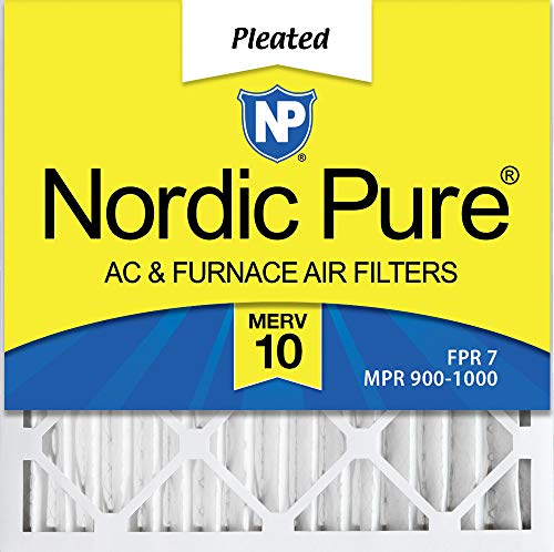 (Nordic Pure 20x20x2 MERV 10 Pleated AC Furnace Air Filter, Box of 3)