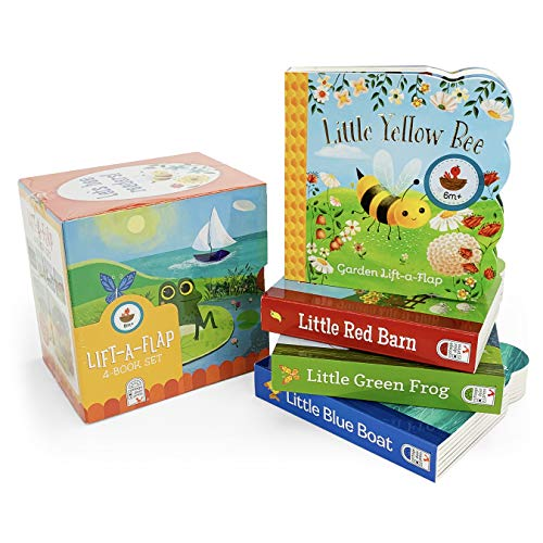 - Nature Friends Lift-a-Flap Boxed Set 4-Pack: Little Red Barn, Little Blue Boat, Little Green Frog, and Little Yellow Bee (Chunky Lift a Flap)