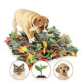 Dog Snuffle Mat Simulation Maple Leaf Feeding Mat Dog Nosework Blanket Encourages Natural Foraging Skills