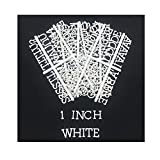 Plastic Letters for LetterBoards - 188 Characters, Including Numbers, Symbols for Changeable Letter Boards, Atoz Create, Letter Boards Accessories (1 inch White)