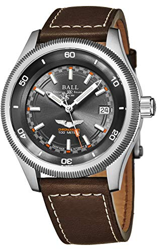 Ball Men's NM3022C-L2CJ-GY 'Engineer II' Black Dial Brown Leather Strap Magneto Limited Edition Swiss Automatic Watch