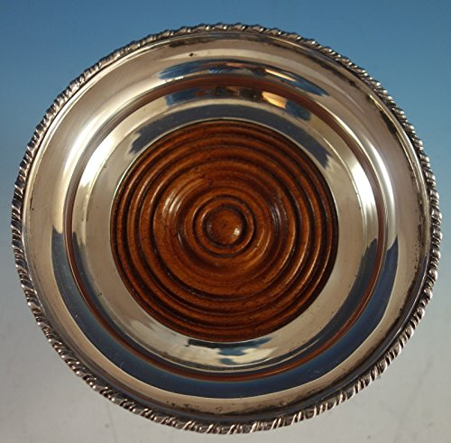 (Tane Mexican Mexico Sterling Silver Wine Coaster with Mahogany Wood (#2113))