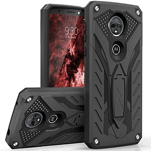Zizo Static Series Compatible with Motorola Moto e5 Supra Case Military Grade Drop Tested with Built in Kickstand Moto e5 Plus Case Black