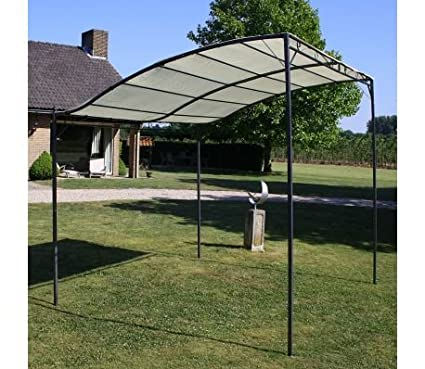 BLXCOMUS Outdoor Patio Funiture Cream White And Black Gazebo Tent With  Steel Frame And Fabric,