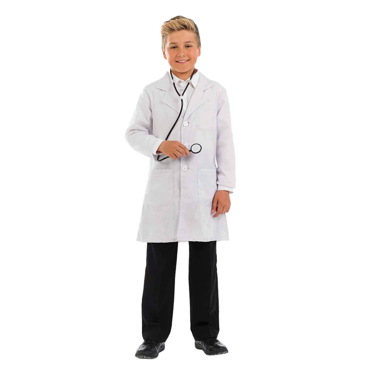 Fun Shack Blanco Médico Disfraz para Niños y Niñas - M: Amazon.es ...