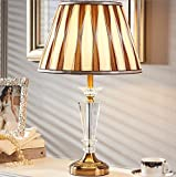 HH Simple Modern Luxury Living Room Bedroom Study Crystal Large Lamp