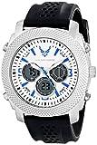 Wrist Armor Men's 37300002 C21 Analog-Digital Display Quartz Watch with Black Silicone Strap