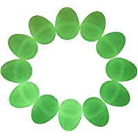 Set of 12 Glow in the Dark Plastic Easter Eggs 2.25 Inches