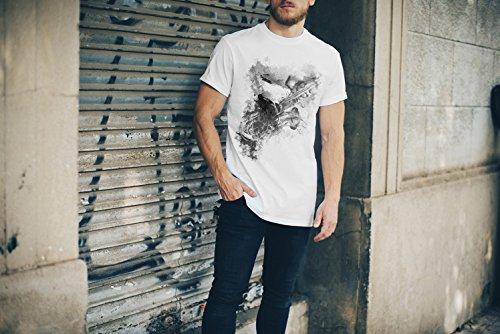 Saxophon Spieler I T-Shirt Herren, weiß mit Aufdruck