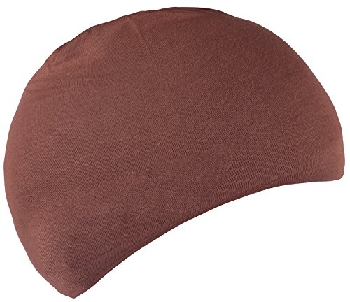 Sleeping Caps Night Cap Cotton Beanie Chemo Hats for Men Women Brown Brown Mens - Brown Cotton Beanie