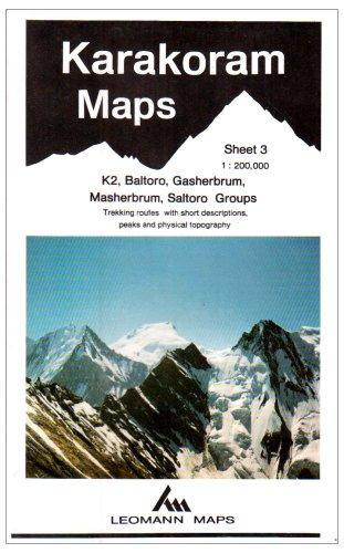 Karakoram Mountain Map: K2, Baltoro, Gasherbrum, Masherbrum, Saltoro Groups Sheet 3 (Leomann Maps)