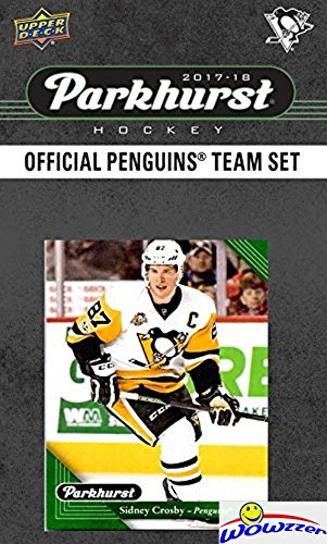 Sidney Crosby Card (Pittsburgh Penquins 2017/18 Upper Deck Parkhurst NHL Hockey EXCLUSIVE Limited Edition Factory Sealed 10 Card Team Set including Sidney Crosby, Evgeni Malkin & all the Top Stars & RC's! WOWZZER!)