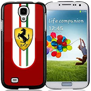 Unique And Lovely Designed Case For Samsung Galaxy S4 I9500 i337 M919 i545 r970 l720 With Ferrari Logo 2 Black Phone Case