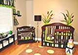 10pc Frog Nursery Crib Bedding Set Brown and Green – Pollywog Pond, Baby & Kids Zone