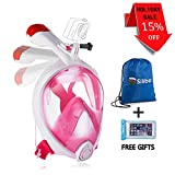 siliber outfitter Full Face Snorkel Mask Foldable Tube,180 Panoramic, Easy Breathing Anti Fog & Anti Leak Design Adult Kids Waterproof Smartphone Case & Sports Gear Bag