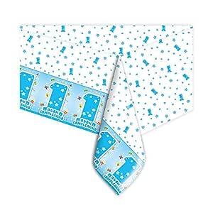 Big Party Mantel para Primer Cumpleaños de niño, Color Azul ...