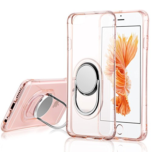 """Price comparison product image WXY iPhone 6 / 6s Case with Ring Kickstand, 360 Degree Rotating [Metal] [Magnetic] Car Mount/Stand/Holder/Kickstand for iPhone 6 / 6s 4.7""""(Rose Gold)"""