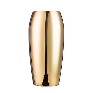 IMEEA vaso in acciaio INOX vaso decorativo per la casa, party, matrimonio, centrotavola H24CM oro