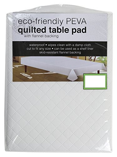 Sultan's Linens PEVA Quilted Table Pad With Flannel Backing, Waterproof, Skid Resistant (52'' Round)