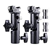 FOTYRIG Camera Flash Speedlite Mount Light Stand Flash Shoe Mount Bracket Speedlite Stand Camera Umbrella Holder for Canon Nikon Pentax Olympus Nissin Metz and other Speedlite Flashes E Type-2 Pack
