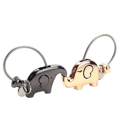Seilent Sweet Kiss Cerdos Parejas Llaveros Con Lla...