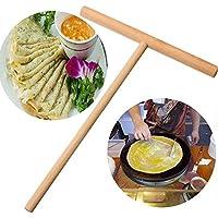 ZHUOTOP Crepe Maker Pancake Batter Wooden Spreader Stick Home Kitchen Tool Kit