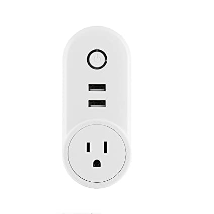 Wifi Smart Plug, KING-LINK Wireless Remote Control Smart Wall Socket with  Dual USB Outlets, Compatible with Amazon Alexa & Google Home (1)