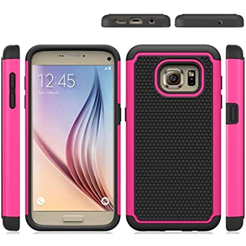 Galaxy S7 Case Cover, 3 in 1 TPU + PC + Silicon (Anti Slip) Rugged Slim shock absorber Cell Phone Case Rubber Bumper (Slim Fit) for Samsung Galaxy S7 (Pink) Sales