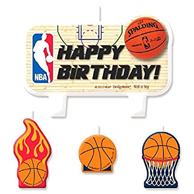 "NBA Collection"" Birthday Cake Candle Set: Toys & Games,"""