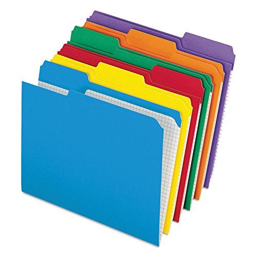 - Pendaflex R15213ASST Reinforced Top Tab File Folders, 1/3 Cut, Letter, Assorted, 100/Box