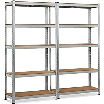 Gorilla Rack Grz6 4824 5pcb 48 By 24 By 72 Inch Shelving Unit With 5 Shelf Black Garage Storage And Organization System Shelves Amazon Com