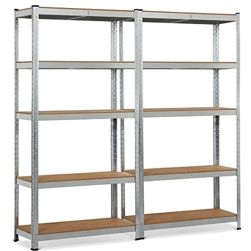 Topeakmart 5 Tier Storage Rack Heavy Duty Adjustable Garage Shelf Steel Shelving Unit,71