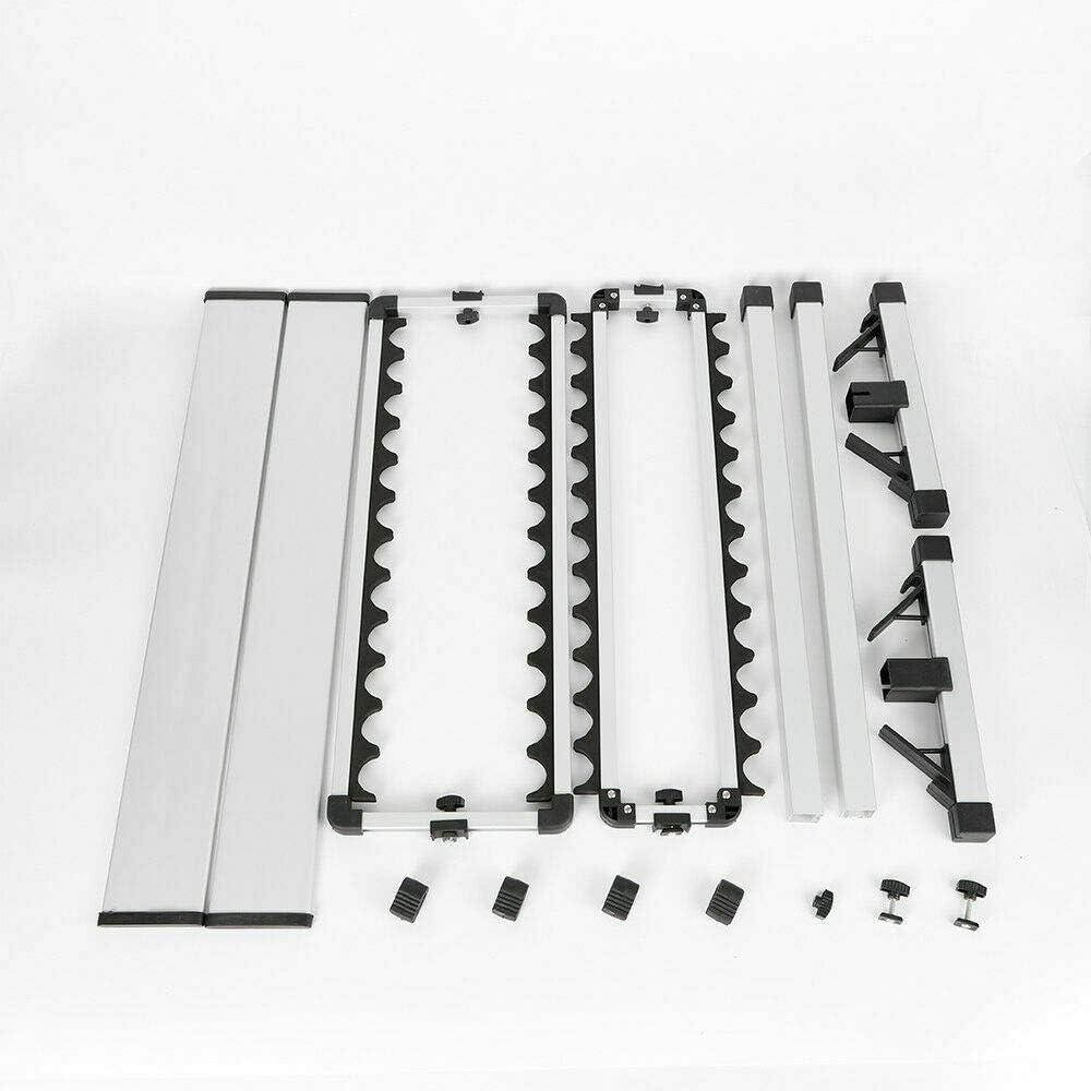 Jintaihua Rutenst/änder Angelruten Rutenhalter Halterung 24 Ruten Aluminium Rutenst/äender