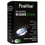 120 Retainer Cleaning Tablets - Made in USA - Removes Stains and Bad Odor from Dentures, Nightguard, Mouth Guard & Removable Dental Appliances (4 Months Supply)