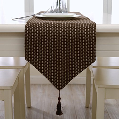 Coffee handmade weave home decorative party gift tassel bed table runner cloth 80 inch approx